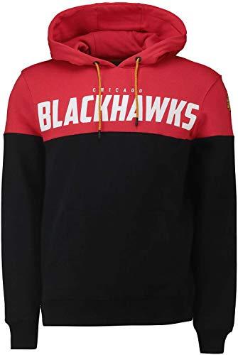 Fanatics NHL Chicago Blackhawks Cut Sew Hoody Hooded Sweater Kaputzenpullover (XL)