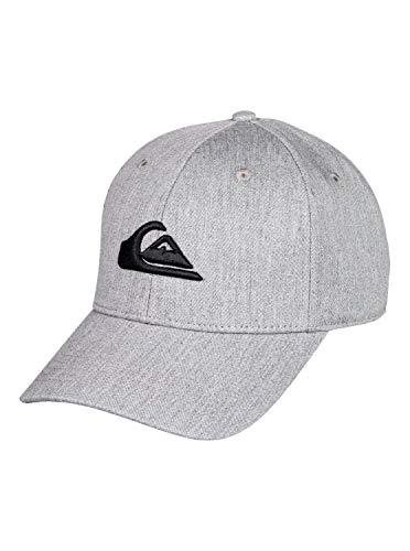 Quiksilver Herren Decades-Snapback-Cap für Männer, Light Grey Heather, 1SZ
