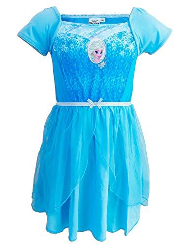 Disney Princess - Nachthemd für Mädchen - SE2XXX [Hellblau ELSA - 4 Jahre - 104 cm]