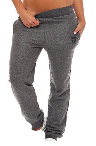 Gennadi Hoppe Damen Jogginghose Trainingshose Sweat Pants Sporthose Fitness Hose,grau,X-Large