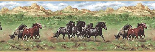 Pferde Tapete Bordüre tm75077