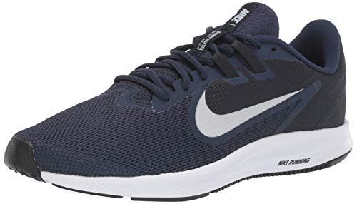Nike Herren Downshifter 9 Laufschuhe, Blau (Midnight Navy/Pure Platinum 401), 46 EU