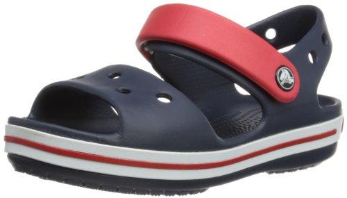 Crocs Crocband Sandal Kids, Unisex - Kinder Sandalen, Blau (Navy/Red), 25/26 EU