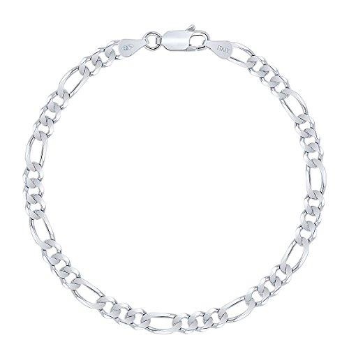Planetys - Figaro Armband 925 Sterling Silber rhodiniert (1+3) 4.1 mm Breite
