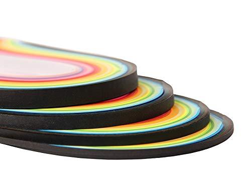 YURROAD 640 Streifen 36 Farben Quilling-Papierstreifen Set, Länge 39 cm, Breite 3 mm, 5 mm, 7 mm, 10 mm, 4 Sets in einer Packung.