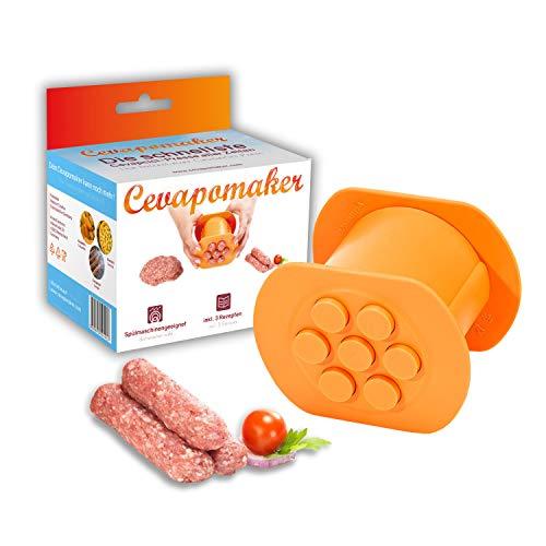 Cevapomaker Cevapcici Presse schnell & einfach - auch für Burger, Kroketten, Gnocchi, Churros, Gebäck, Plätzchen, Köfte, Bifteki