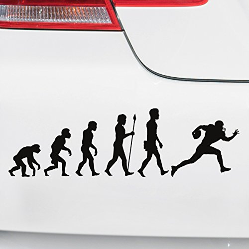 Motoking Autoaufkleber - Lustige Sprüche & Motive für Ihr Auto - Evolution Football - 25 x 7,4 cm - Weiß Seidenmatt