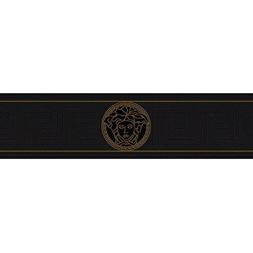 Versace Griechischer Schlüssel–Bordüre schwarz 935224