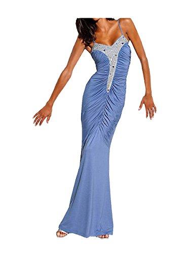 Carry Allen by Ella Singh Damen-Kleid Abendkleid Blau Größe 38