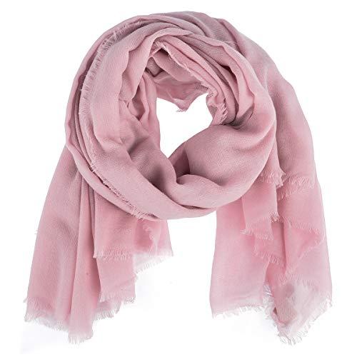Becksöndergaard Quadratischer Schal Mill Rosa Nude Shadow Viereckiges Einfarbiges Tuch Warm Weich Wolle 664001-130