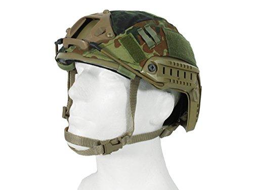 Begadi Helmbezug für FAST Helme, mit Aussparung für Optik/NSG Montage - flecktarn