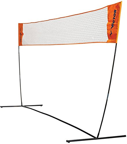 VICTOR Easy Badmintonnetz - Höhenverstellbares Outdoor Multifunktionsnetz