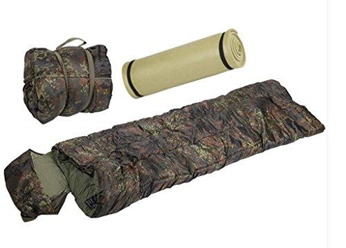 AOS-Outdoor Schlafsack + Isomatte Flecktarn