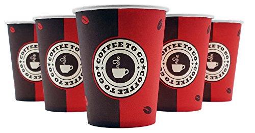 Exopack Coffee to go Becher 0,2l 200ml | 50 Stück | Made in Germany | Spitzenqualität | Biologisch abbaubar