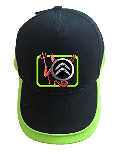 mmshop18 Citroen Devil Teufel Auto Logo Unisex Baseball Cap Mütze -c07 (sw-grün)