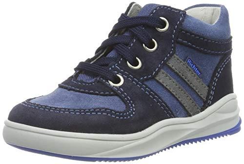 Richter Kinderschuhe Jungen Harry Hohe Sneaker, Blau (Atlantic/River/Ash 7204), 25 EU