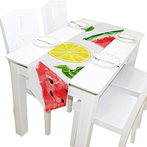 Yushg Wassermelone Lemon Kombination kommode schal Tuch Abdeckung tischläufer tischdecke tischset küche esszimmer Wohnzimmer Home hochzeitsbankett Decor Indoor 13x90 Zoll