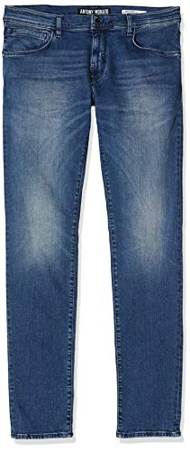 Antony Morato Herren Barret-Power Stretch-Pilota Skinny Jeans, Blau (Blu Denim 7010), 38 (Herstellergröße: 29)
