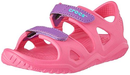 Crocs Unisex-Kinder Swiftwater River Sandalen,Pink (Paradise Pink/Amethyst 60o), 25/26 EU