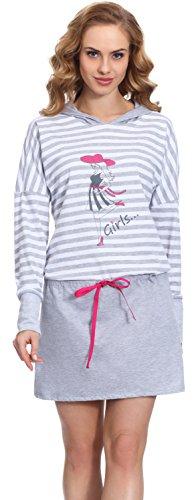Merry Style Damen Nachthemd MS10-104 (Grau/Amaranth, XXL)