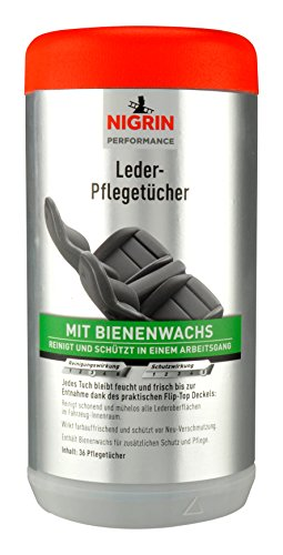 NIGRIN 74648 Leder-Pflege-Tücher, 36 Stück