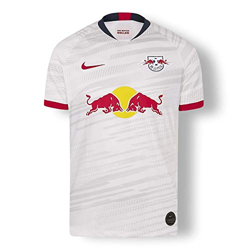 RB Leipzig Home Trikot 19/20, Weiß Herren Medium T Shirt, RasenBallsport Leipzig Original Bekleidung & Merchandise