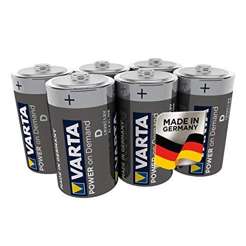 VARTA Power on Demand D Mono Batterien (6er Pack Vorratspack - smart, flexibel und leistungsstark für den mobilen Endkonsumenten - z.B. für Computerzubehör, Smart Home Geräten oder Taschenlampen)