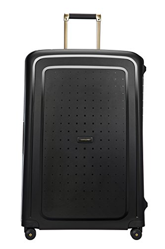 SAMSONITE S'Cure DLX Spinner, 5 KG Koffer, 81 cm, 138 L, Black/Gold Deluscious