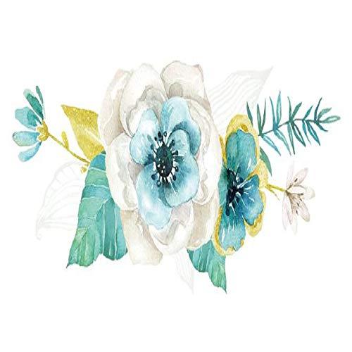 adgkitb 5 stücke Blatt Tattoo Aufkleber Wasserdicht Temporäre Gefälschte Tätowierung Blume Arm Hand Kinder Mädchen Kinder Jugendliche Frauen Kunst SF3441 10,5X6 cm
