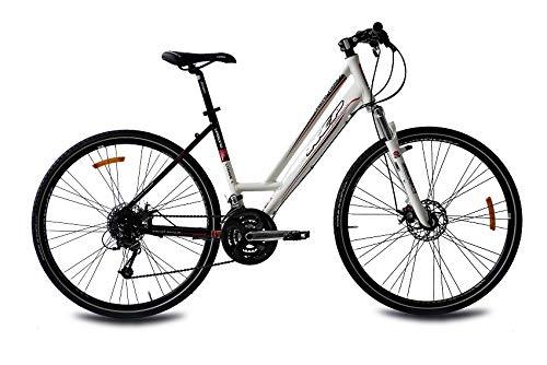KCP 28 Zoll Crossfahrrad - Urbano Crossline 2.0 Lady - Damen Crossrad mit 24 Gang Shimano Deore Kettenschaltung, bequemtes Fitnessbike für Frauen