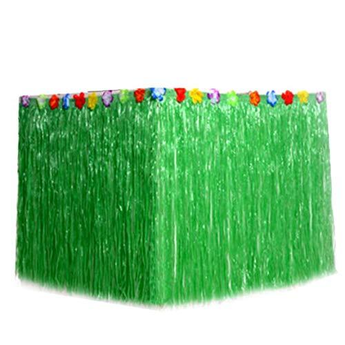 Aisoway Hawaii-Table Rock-Strand-Themed Gras Tischdecke Dekor-Zubehör (grün)