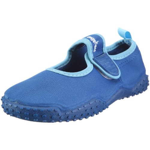 Playshoes Kinder Aquaschuhe, Badeschuhe klassisch mit UV-Schutz, 24/25, Blau (Blau 7)