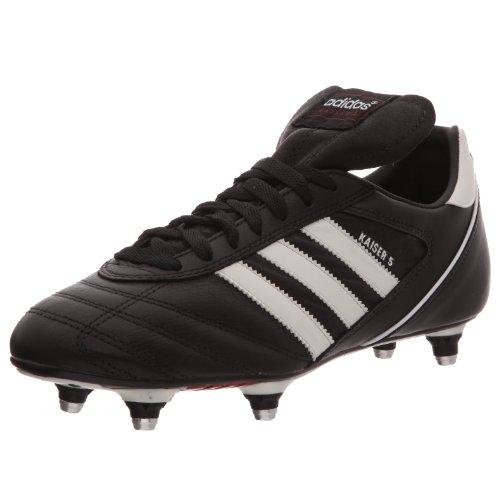 adidas Herren KAISER 5 CUP Fußballschuhe, Schwarz (Black/Running White FTW/red), 44 2/3 EU