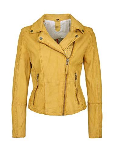 Gipsy Neni S19 Damen Lederjacke aus feinstem Nubuk Leder (M, Amber Yellow)