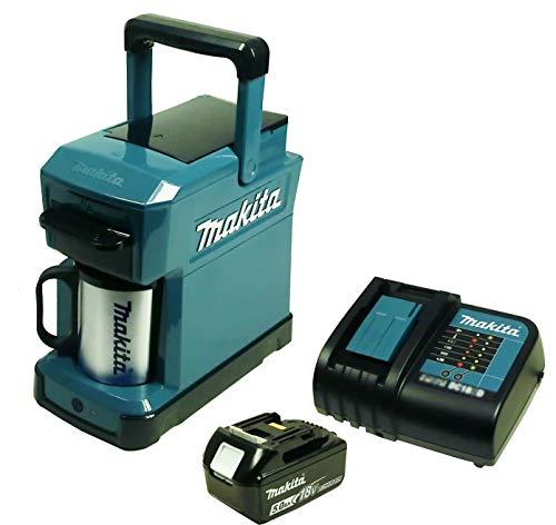 Makita DCM 501 Akku-Kaffeemaschine mit Akku 5 Ah und Ladegerät
