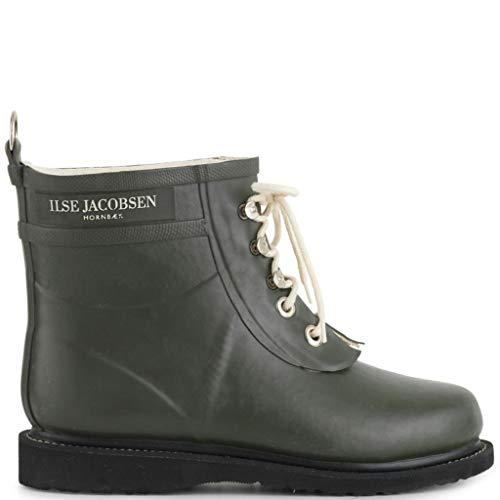 Ilse Jacobsen Damen Gummistiefel | Schuhe aus 100% Natur Bio Gummi | Garantiert PVC frei | Kurze Stiefel mit Schnürsenkel aus 100% Baumwolle | RUB2