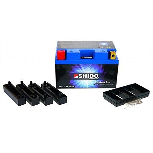 Shido LITHIUM-IONEN Batterie YT12A-BS 12 Volt, SHIDO Motorrad Batterie   LiFePO4   LI-YT12A-BS passend für Suzuki SFV 650 A Gladius ABS, L2, CX1121, Bj. 2012 [Preis ist inkl. Batteriepfand]