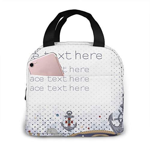 Bidetu Seeseile, Anker, Münzen, Rettungsringe Original Lunchbox Insulated Lunch Bag - Robuste und geräumige Lunchbox für Erwachsene, um Ihren Tag zu genießen