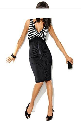 Kleid m. Pailletten, schwarz-weiß von Carry Allen by Ella Singh , Groesse 36