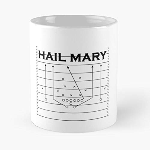 American Football Hail Mary Quarterback Spielzug Classic Mug Best Gift Coffee Mugs 11 Oz