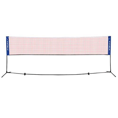 COSTWAY Höhenverstellbar Badmintonnetz Tennisnetz Federballnetz Minibadmintonnetz Multifunktionsnetz für Federball und Tennis XL XXL (4,2 Meter)