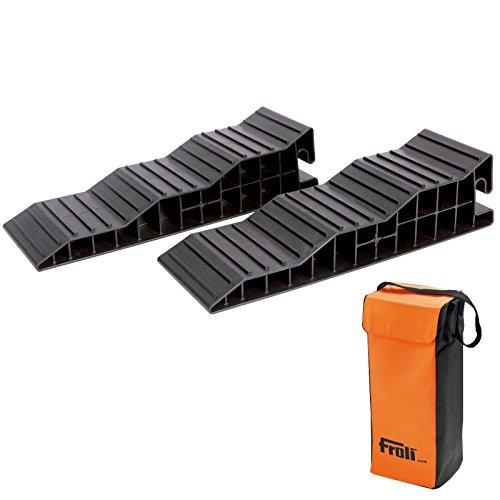 Froli Stufenkeile Auffahrkeile - 2 er Set für Wohnwagen & Wohnmobil - bis 8000 Kg