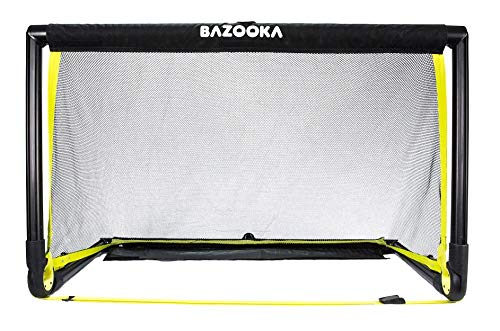 BazookaGoal Original Fußballtor Klappbar, Outdoor/Indoor-Set mit massivem Rahmen – Pop up Tor (1,20 x 0,75m, BGO1)