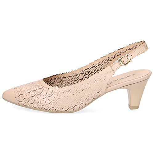 CAPRICE 9-29601-22 Schuhe Damen Sling Pumps Weite G, Schuhgröße:38.5 EU, Farbe:Beige
