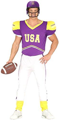 Fancy Me Herren USA lila Amerikanische Fußballspieler Quarterback Jock Junggesellenabschied Nacht Bachelor Party Sport Kostüm Kleid Outfit - Large