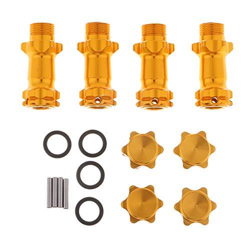 Metall Radnaben Verlängerung Hex Adapter Stecker 17 mm für RC Auto - Orange