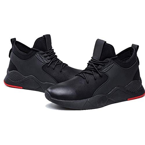 LCZ 1 Paar Sneaker-Sicherheitsschuhe Arbeitsschuhe Atmungsaktiv Anti-Rutsch-Resistent Perforation Herren Schwarz 40