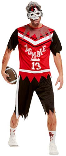 Herren Zombie Quarterback American Football Halloween Sport Kostüm Outfit M-XL (Medium)