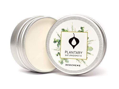 Plantary Deo Creme ohne Aluminium vegan bio 30ml, Unisex-Duft für Damen und Herren, Deocreme für die Familie, Bio Naturkosmetik mit der Zaubernuss, DERMA TEST