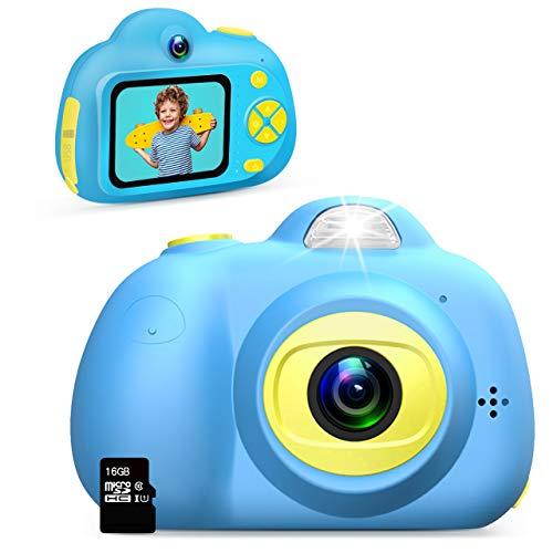 Dreamingbox Geschenke für Jungs ab 3 4 5 6 7 8 9 10 Jahre, Digitalkamera für Kinder Kinderkamera 3-10 Jahre Junge Geschenk Spielzeug für Jungen 3-10 Jahre Spielzeug 3-10 Jahren Junge 16GB(Blau)
